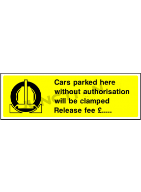 Car parked without authorisation release fee