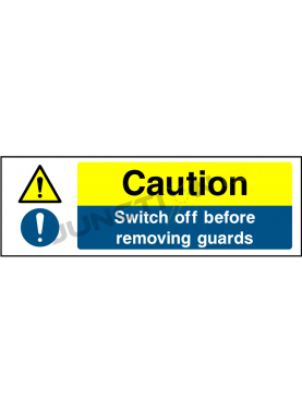 Caution Switch Off Before Removing Guard