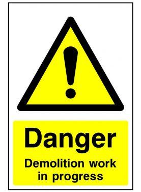 Danger demolition work in progress