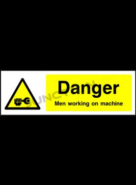Danger men Working On machine