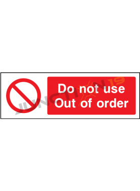 Do Not Use Out Of Order