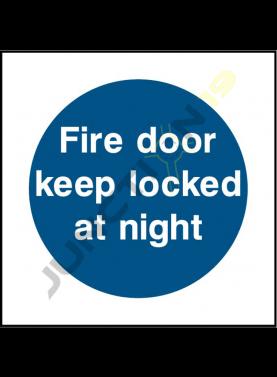 Fire Door Keep Locked At Night