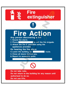 Fire Extinguisher Fire Action Any person discovering a fire