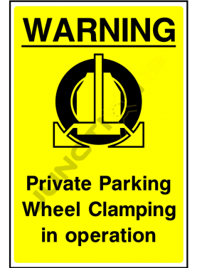 Private Parking Wheel Clamping in Operation