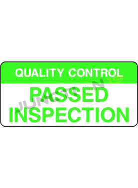 Quality Control Passed Inspection