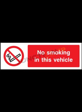No Smoking in this Vehicle