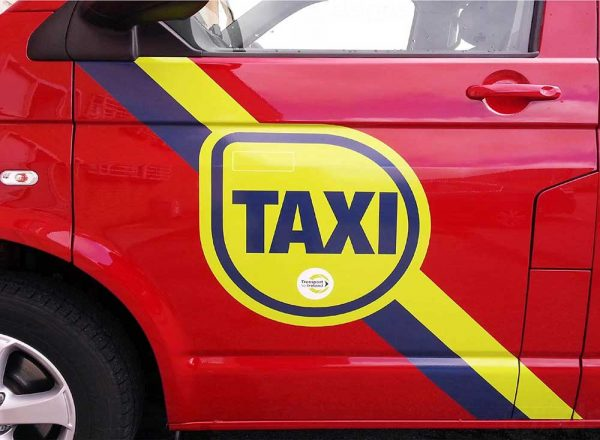 Taxi Door Signs home