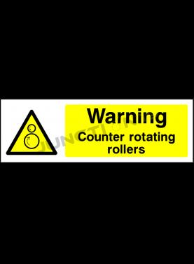 Warning Counter Rotating Rollers