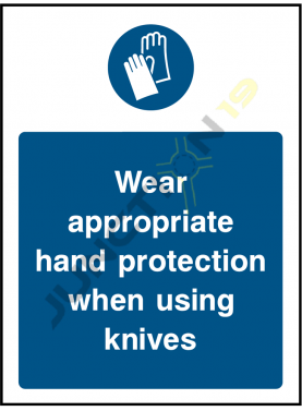 Wear Appropriate Hand Protection When Using Knives