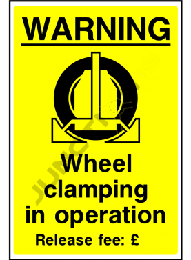 Wheel clamping in operation