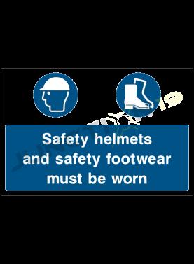 Worn Safety Helmets and Footwear